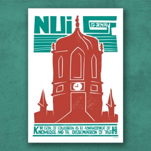 NUIG National University of Ireland Print. Galway University high quality Print on Archival paper and ink.