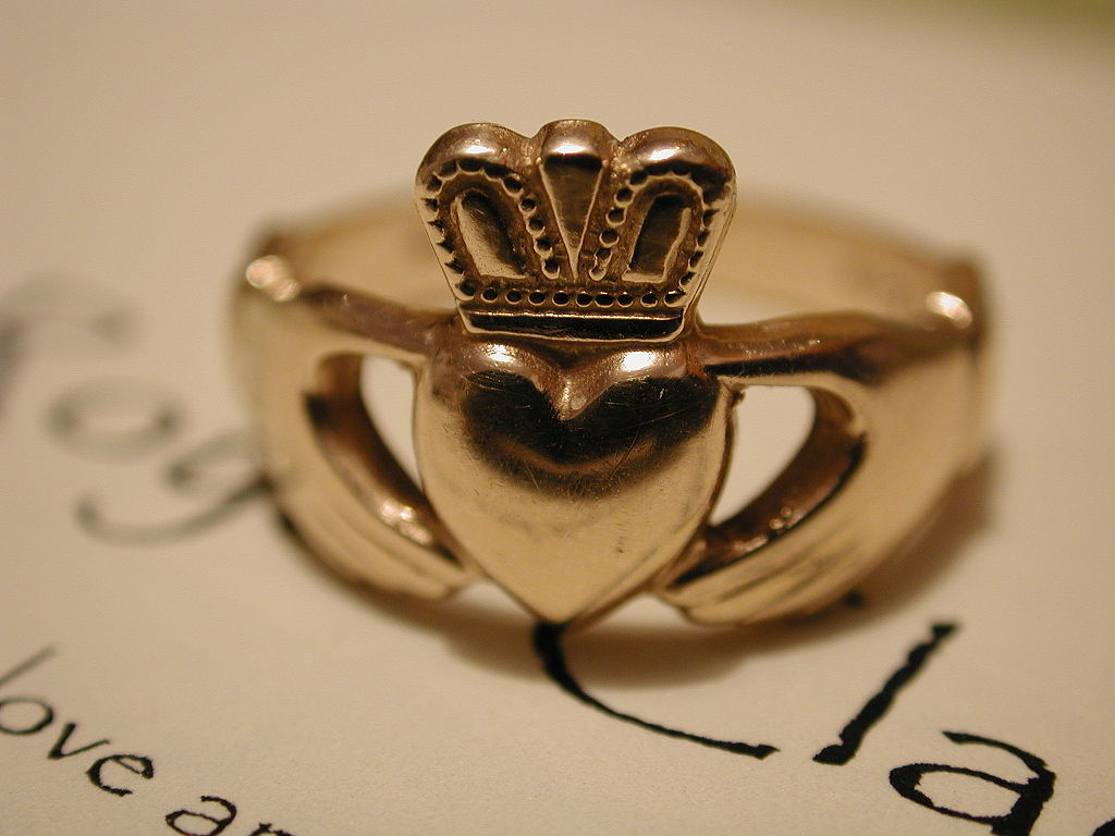 The Claddagh Ring Galway Ireland. The famous Ring with so much symbolism.