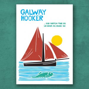 Galway Hooker Poster. The Galway hooker is a traditional fishing boat used in Galway Bay off the west coast of Ireland.