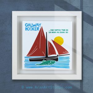 Galway Hooker Boat - Ceramic Art, handmade in Galway Ireland on Irelands Wild Atlantic Way.