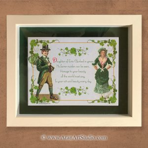 Handmade in Ireland Gifts. Framed Irish Art. Daughter of Erin.