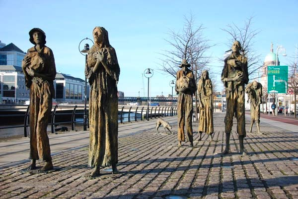 Irish Famine Memorial, Dublin. Framed Irish Art