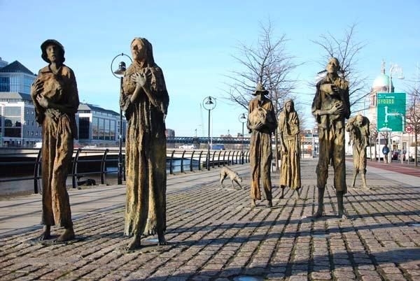 Irish Famine Memorial, Dublin. Framed Irish Art