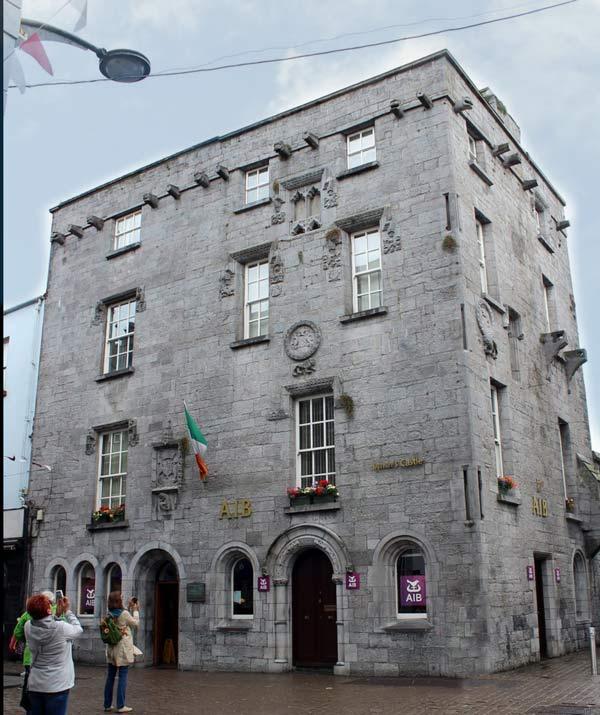 Lynch's castle Galway Framed Irish Ceramic Art.