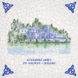 Kylemore Abbey - Ireland. Irish illustrations gifts