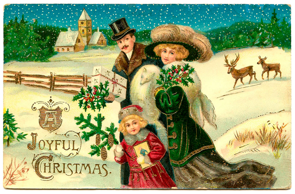 Victorian Christmas Card - Irish Gifts