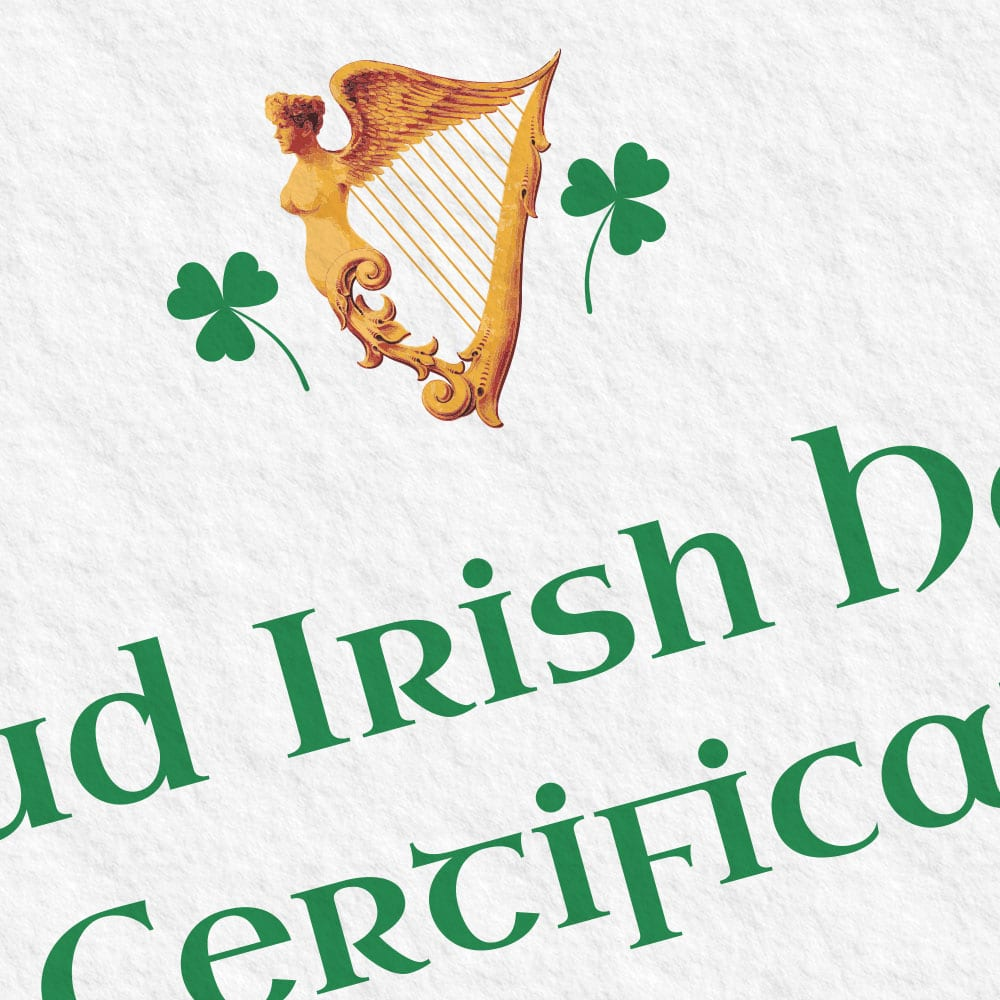Designed and made in Ireland.