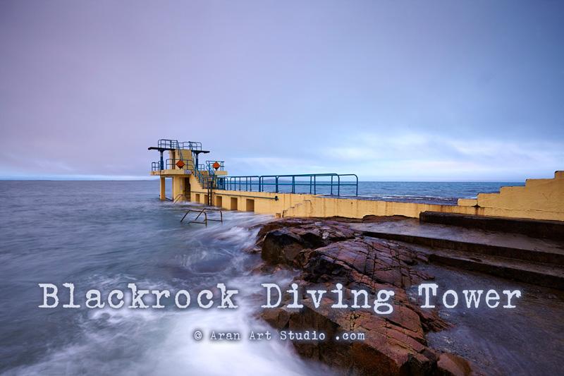 The Blackrock Diving Board, Salthill Galway Ireland. Aran Art Studio Poster.