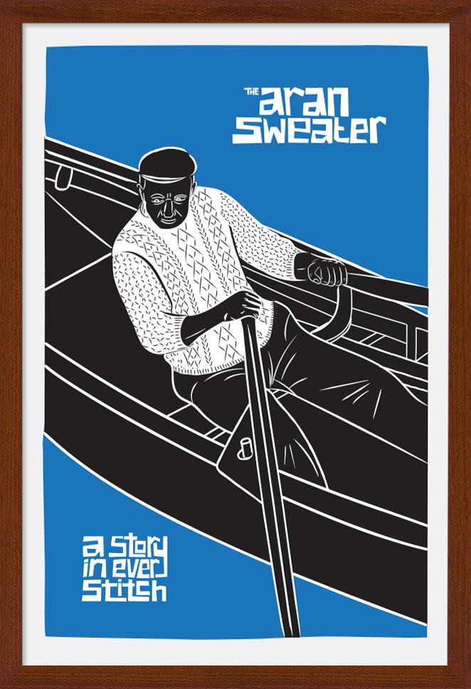 Aran Art Studio - The Aran Sweater Poster. Award winning artwork - great gift choice.