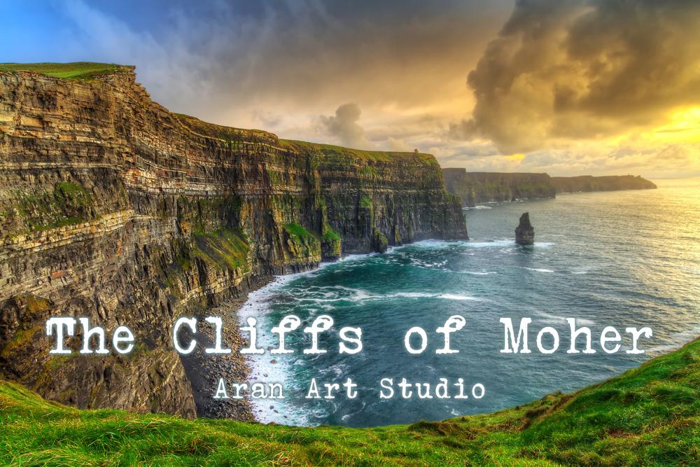 Aran Art Studio. The Cliffs of Moher, The Burren, Ireland.