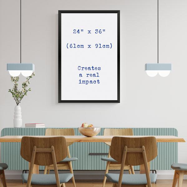Aran Art Studio Large Poster Impact size.