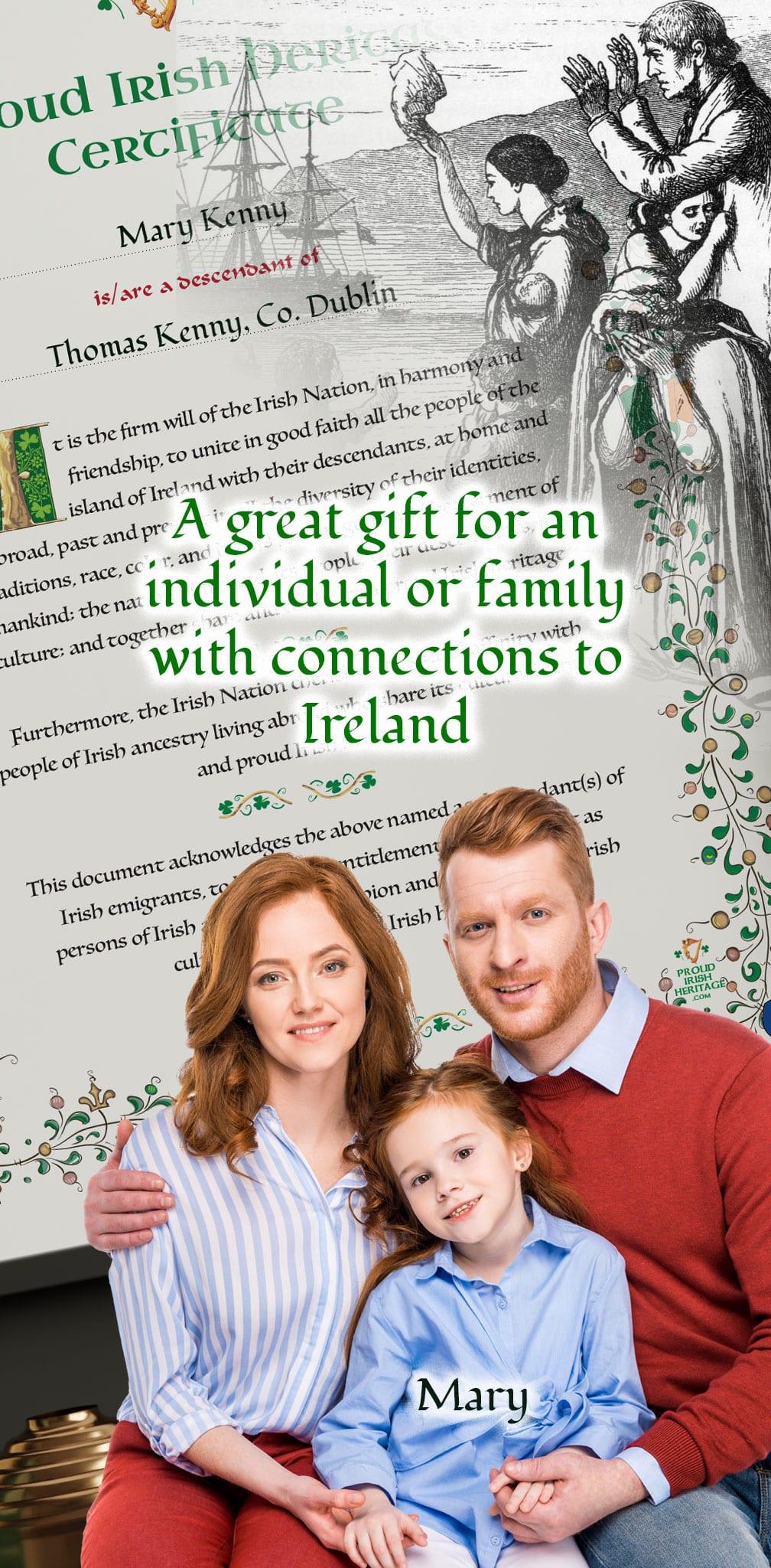 Proud Irish Heritage Gift- Fantastic gift for children