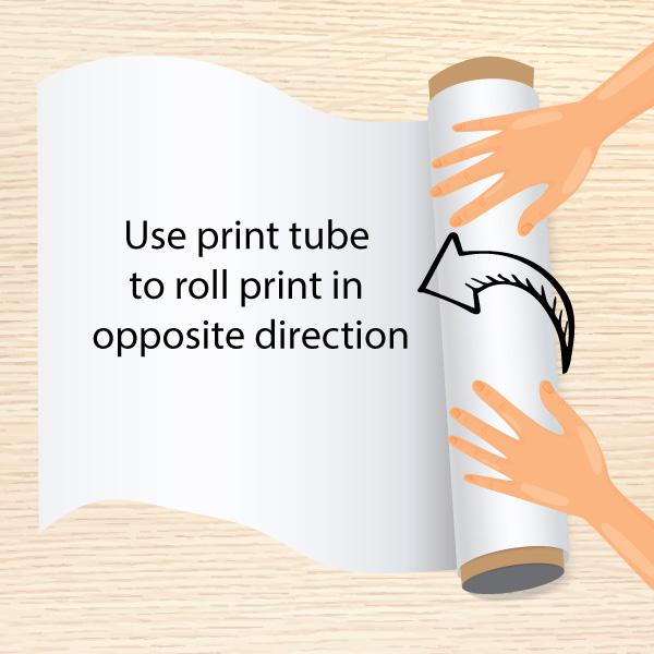 Aran Art Studio - How to flatten a rolled poster print.