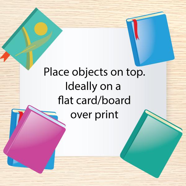 Aran Art Studio - Place objects on Poster to flatten.